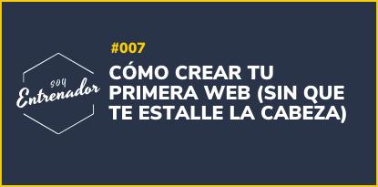 como crear tu primera web